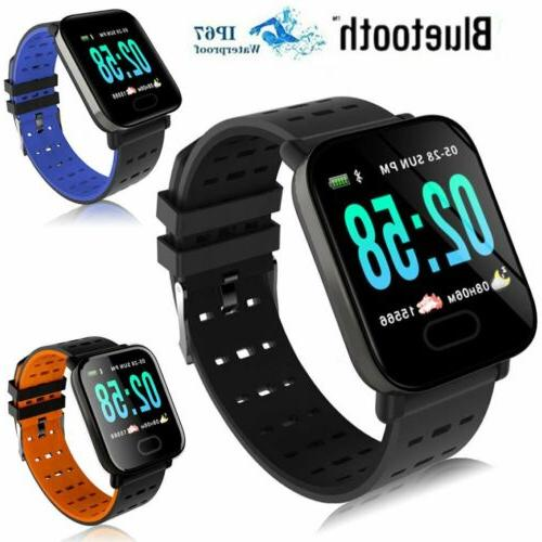 Bluetooth Smart Watch Blood Pressure Heart Rate Monitor Fitn