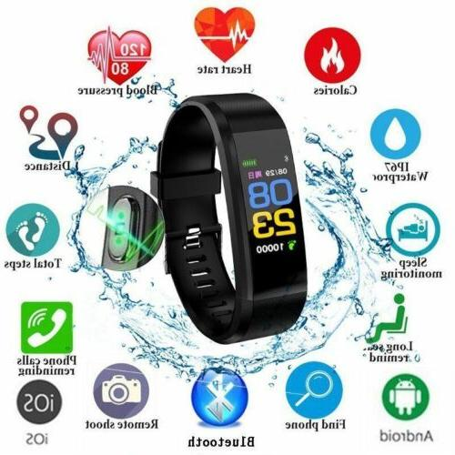 Blood Pressure Heart Rate Monitor Fitness Tracker Bluetooth