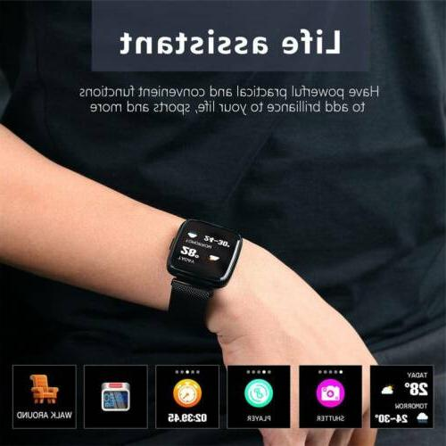 Bluetooth Watch HeartRate Monitor Activity Fitness Stainless