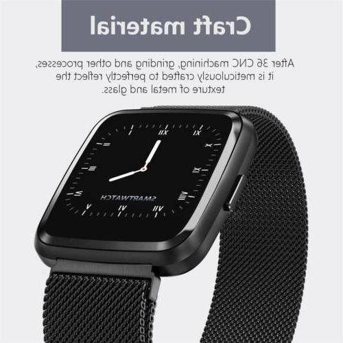 Bluetooth Monitor Activity Fitness Tracker Stainless