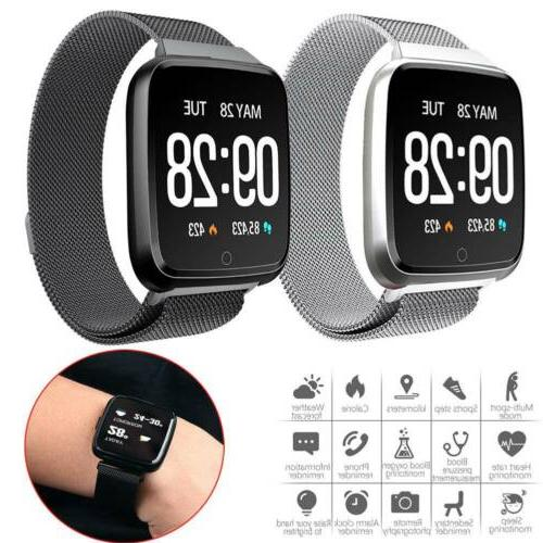 Bluetooth Smart Watch HeartRate Monitor Activity Fitness Tra