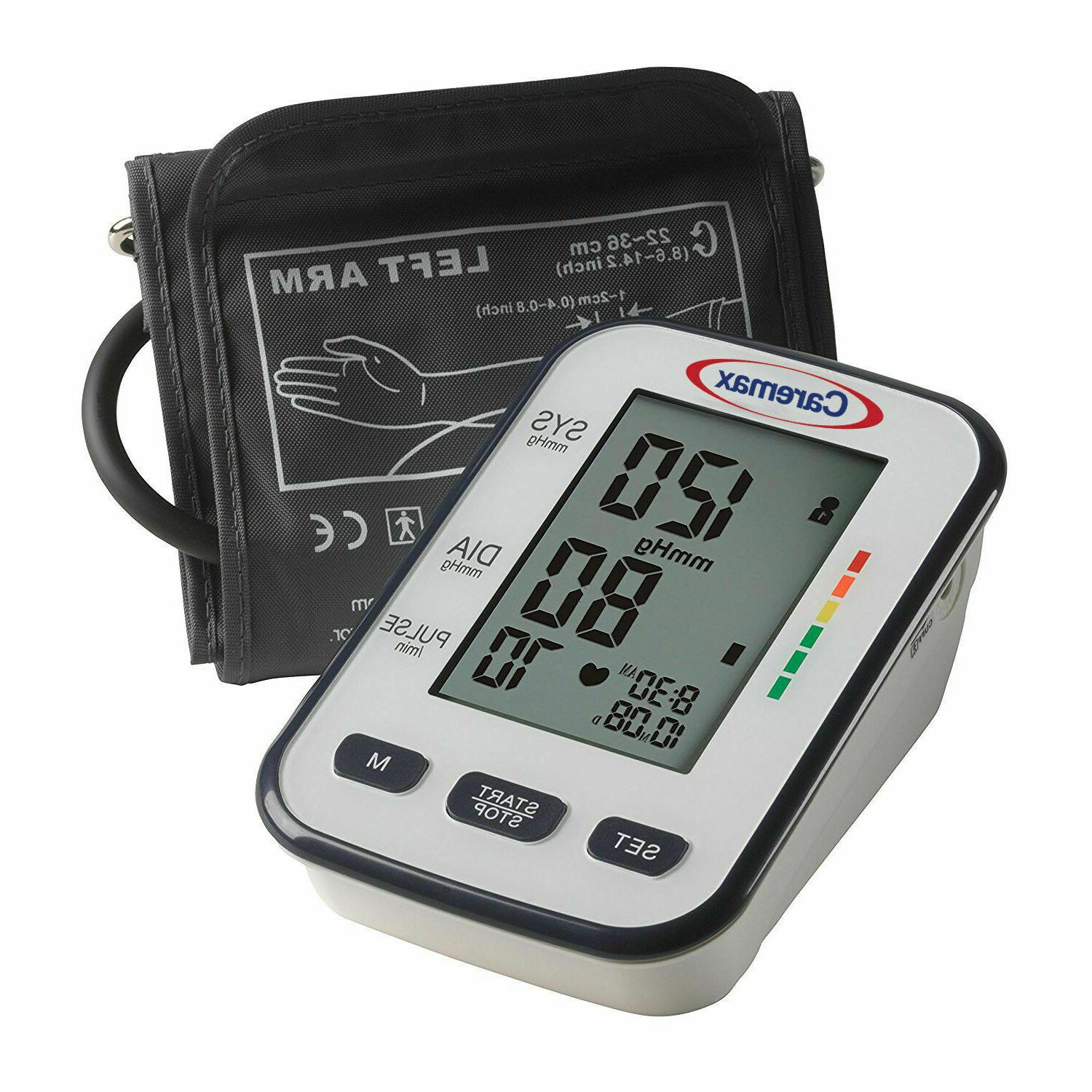 Digital LCD Arm Cuff Blood Pressure Monitor Heart Rate Beat