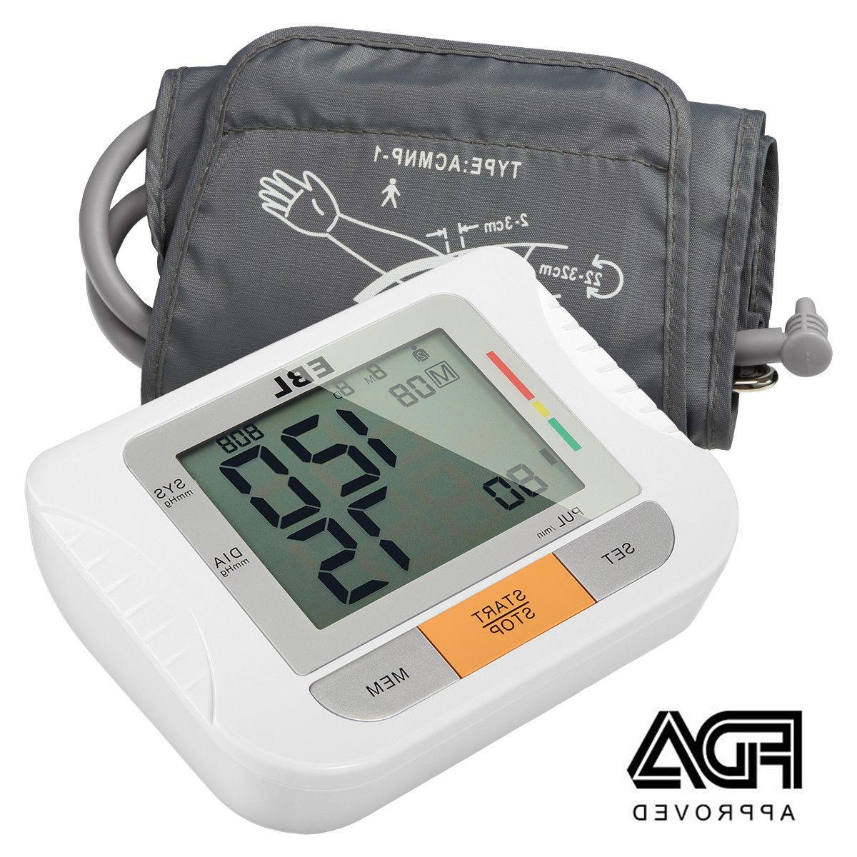 digital lcd arm cuff blood pressure monitor