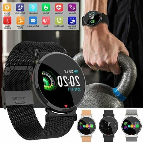 Smart Watch Bluetooth Blood Pressure Heart Rate Monitor Fitn