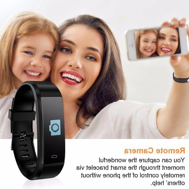 Smart Band Watch Bracelet Wristband Tracker Pressure Rate