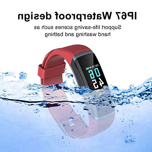 Seegar Fitness Tracker, Waterproof Activity Rate Step Watch Bluetooth Monitor Counter Slim Smart