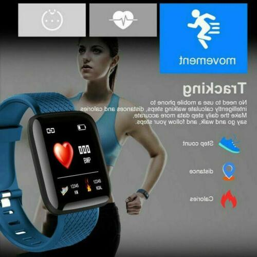 Smart Watch Band Heart Rate Blood Pressure Fitness Sport