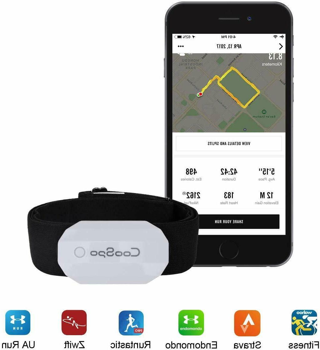 Fitness Ant+ Heart Rate Monitor IP67 Waterproof with Bluet