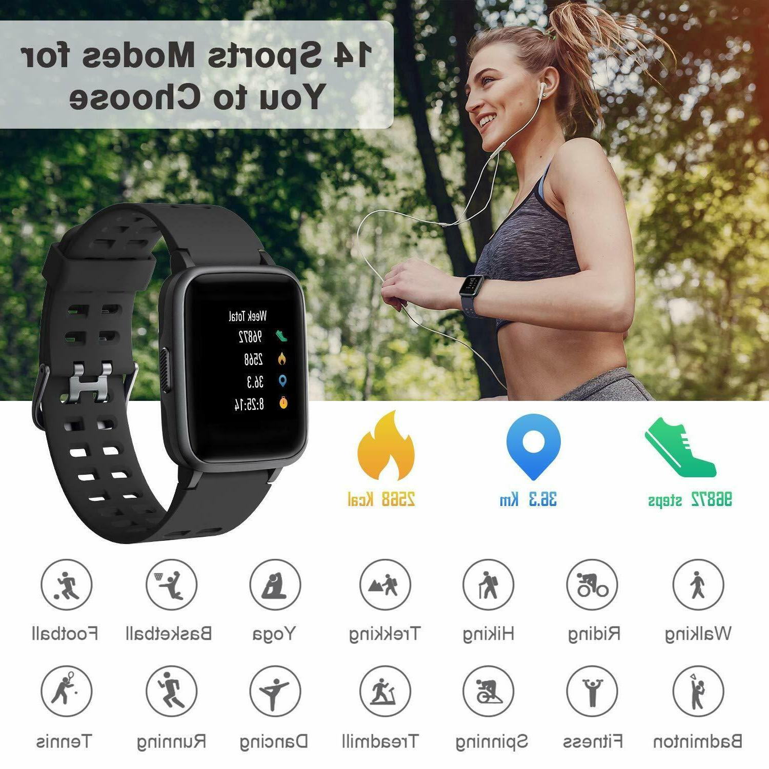 LETSCOM Fitness Rate Activity Monitor Touch Screen