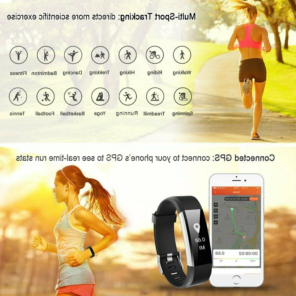 LETSCOM Fitness Tracker Heart Rate Activity Smart Watch