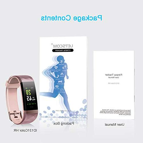 LETSCOM Fitness Color Screen, Heart Monitor, Watch with Sleep Monitor, Pedometer for