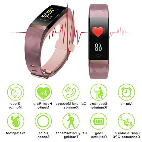Letsfit Tracker HR, Monitor Watch, Smart Tracker Watch, Step Counter, Monitor, for Women Men