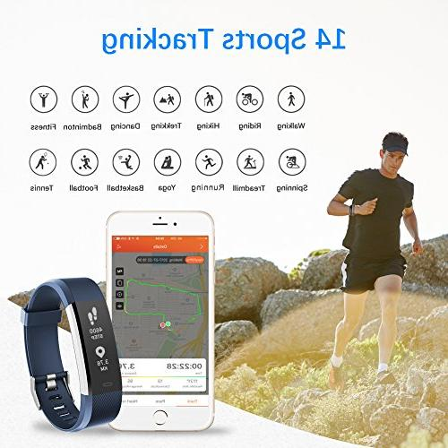 LETSCOM Heart IP67 Waterproof with Step Sleep Monitor, Smart for Women and