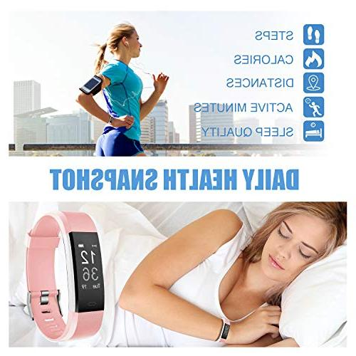 LETSCOM Fitness Rate Smart with Monitor Counter Tracker IP67 for Women Men