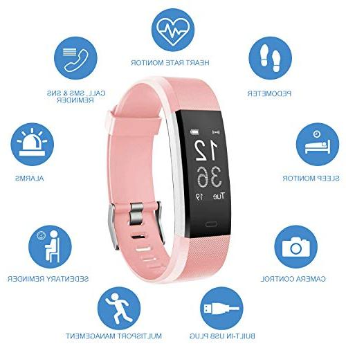 LETSCOM Rate Smart Watch with Sleep Step Tracker Watch, for
