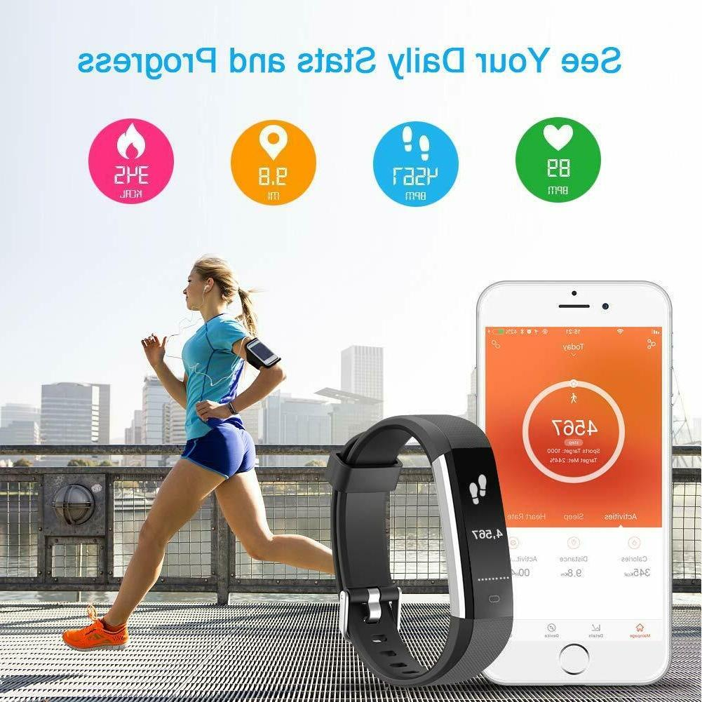 LETSCOM Smart Watch Rate Monitor Activity Tracker