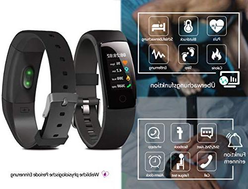 MorePro Fitness Activity with Rate Monitor, Color Screen Bracelet with Tracking Calorie Counter, Watch Kids Women