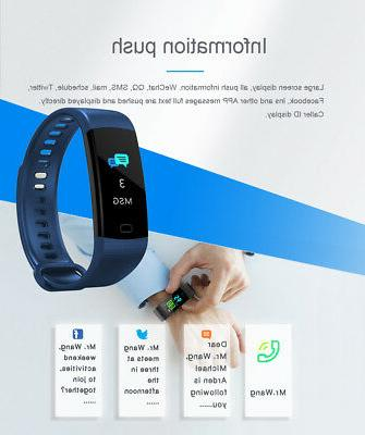 Fitness Tracker Waterproof Blood Pressure Rate Monitor