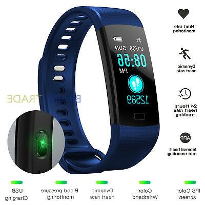 fitness tracker waterproof wristband blood pressure heart