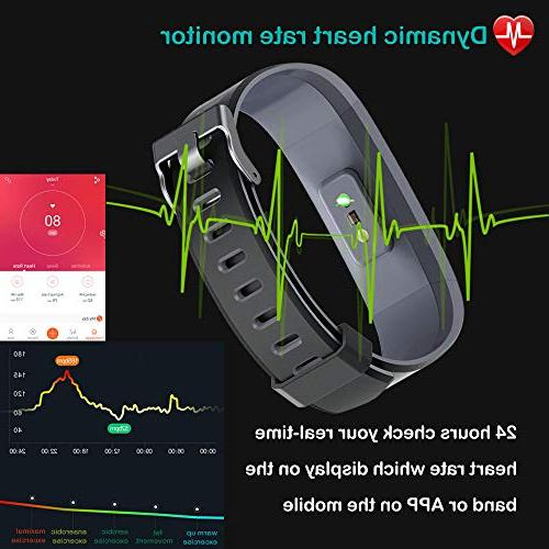 Willful Fitness with Heart Rate Tracker Pedometer with Counter Monitor Sports IP68 Waterproof,Fitness Men Kids