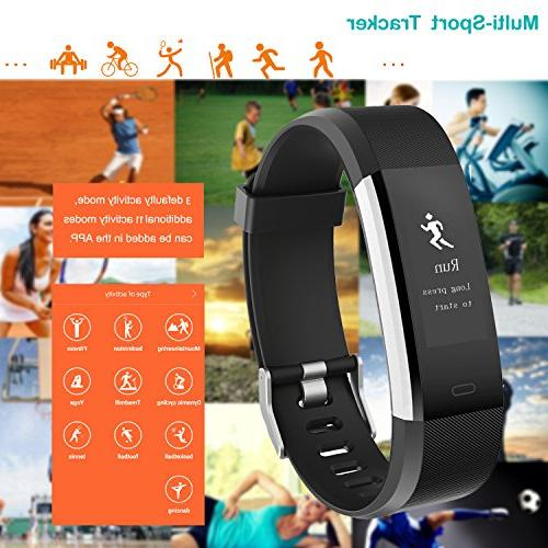 Willful Fitness Heart Rate Monitor, Fitness Watch Tracker IP67 Waterproof with 14 Sports Monitor,Pedometer Kids Men