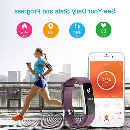 LETSCOM Fitness Tracker with Heart Monitor, Sports Tracker Watch, Waterproof Pedometer Sleep Monitor, Step for and Men
