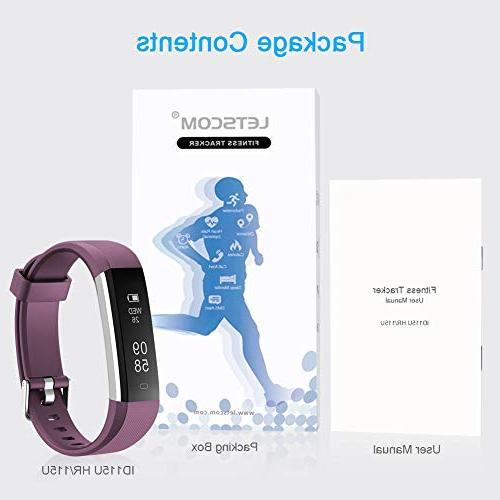 LETSCOM Heart Monitor, Slim Sports Tracker Watch, Waterproof Sleep Monitor, for Kids, Men
