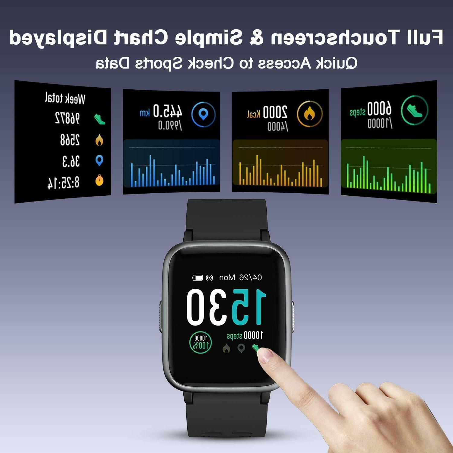 LETSCOM Fitness Heart Rate Activity Screen Smart