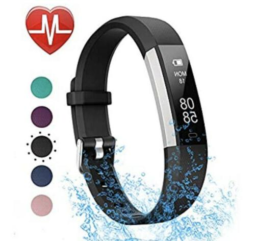 fitness tracker with heart rate monitor waterproof