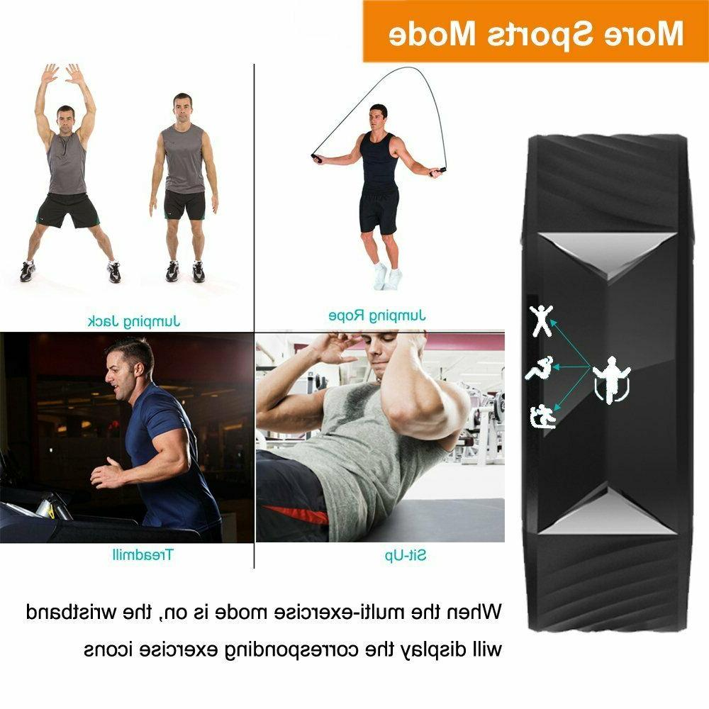 Fitness Waterproof Tracker With Heart Rate Monitor Clock