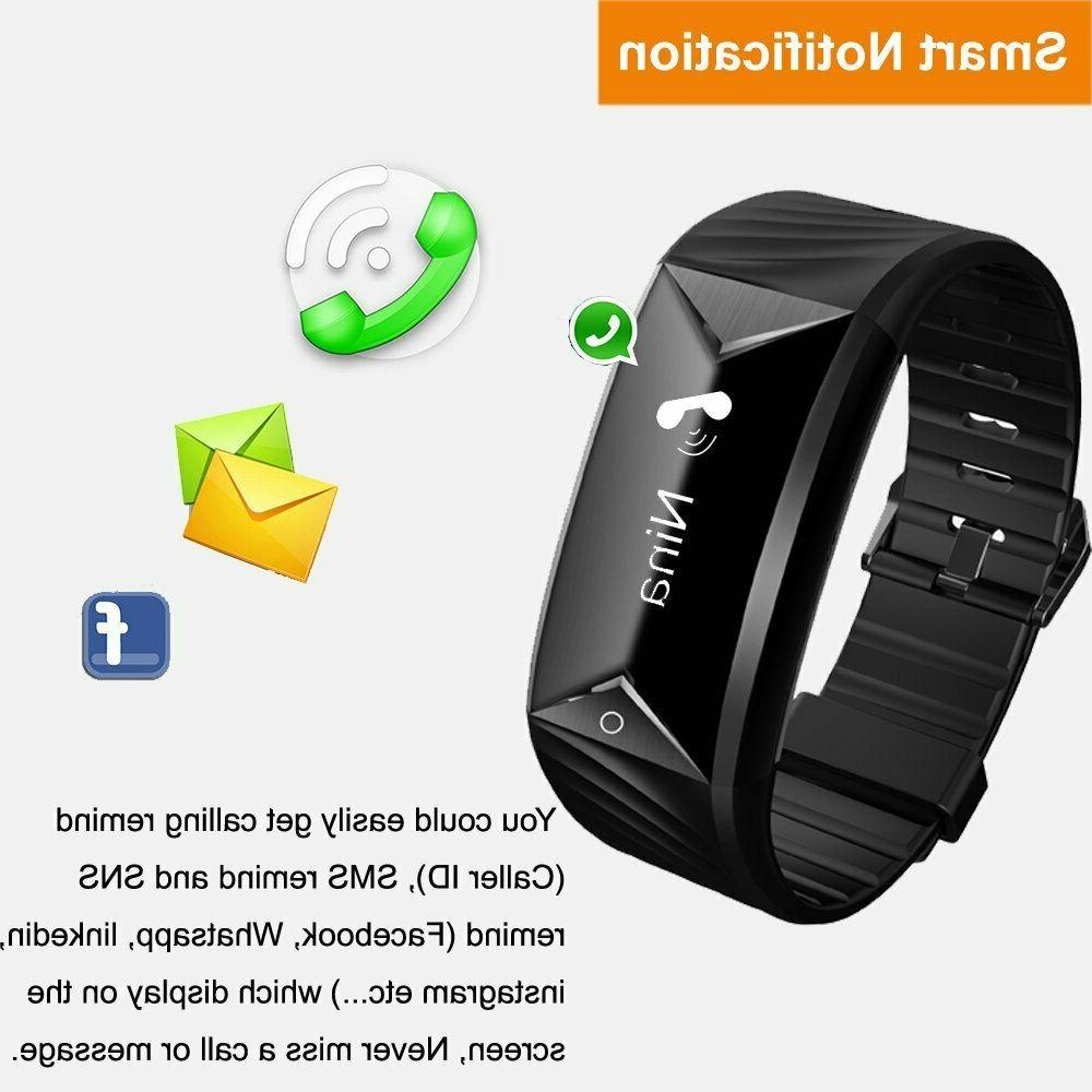 Fitness Watch Tracker Rate Monitor Alarm Clock