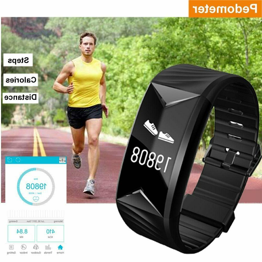 Fitness Watch Waterproof Activity Tracker With Heart Rate Monitor Alarm