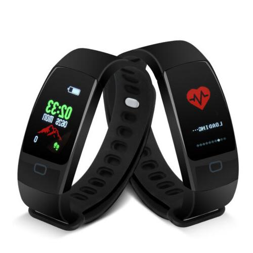 Health Fitness Heart Rate Step Monitor Sport Wristband