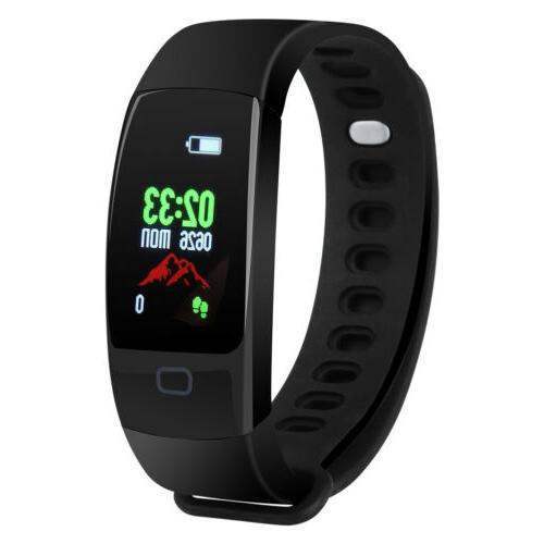 Health Fitness Tracker Heart Rate Step Monitor Sport Watch Wristband