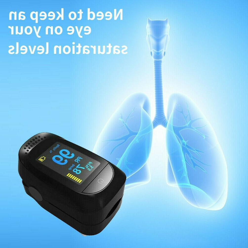 USA Heart Rate Pulse Blood Oxygen Meter SpO2 Monitor