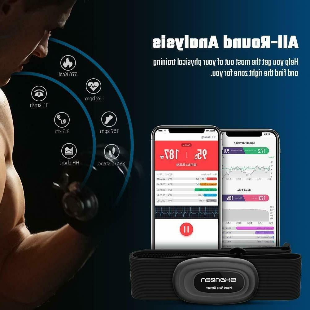 Heart-Rate-Monitor Rechargeable Fitness Tracker Alert,