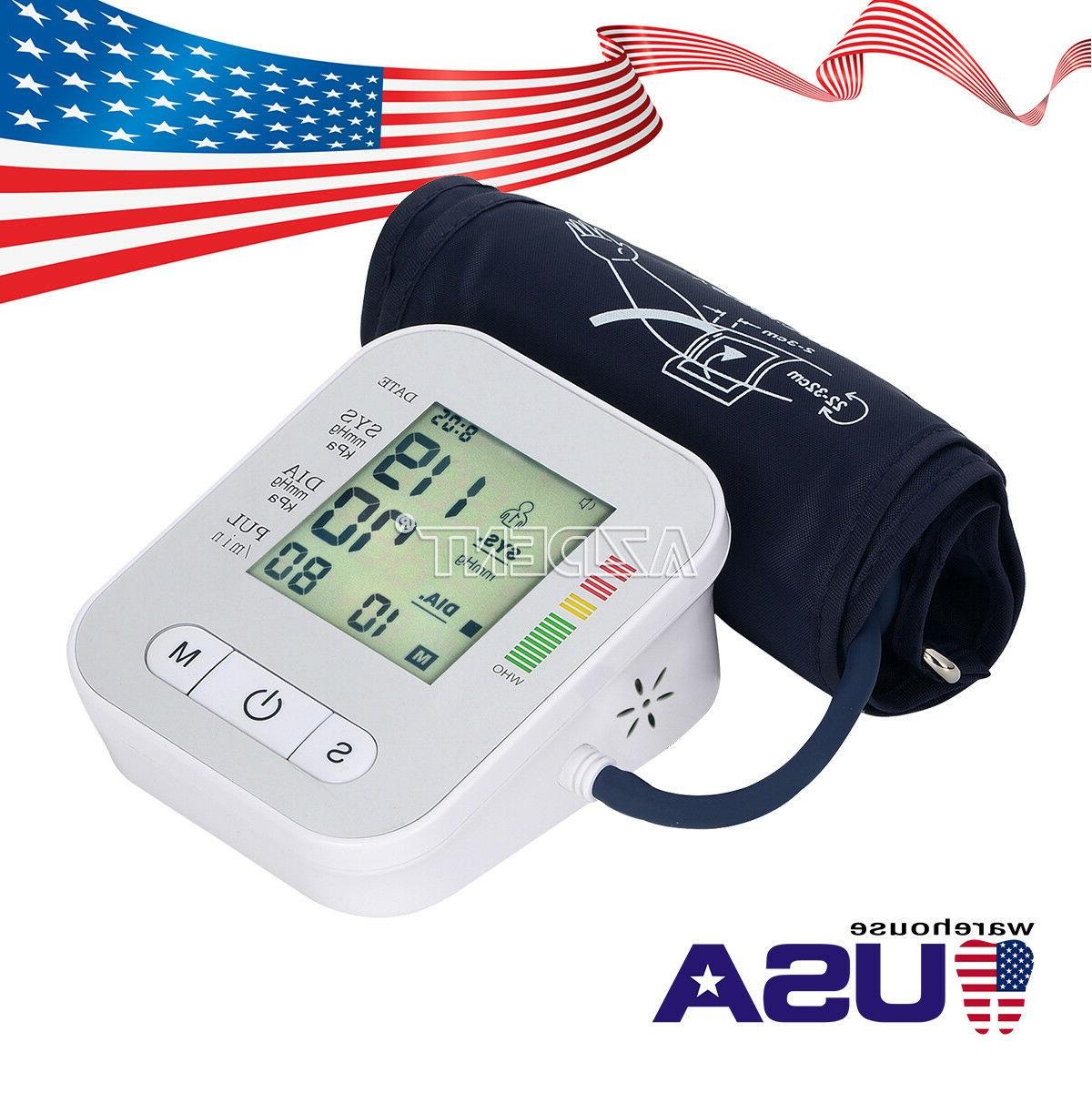 LCD Digital Upper Arm Blood Pressure Heart WHO Function