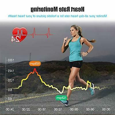LETSCOM Fitness Tracker Heart Rate Monitor, and