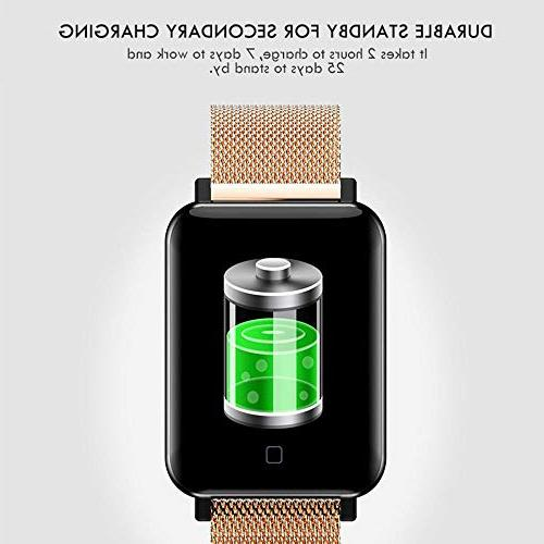 """TEEPAO M19 Watch/Fitness Tracker,1.3"""" HD Screen Bracelet Tracker Wristband with Heart Rate Sports for"""