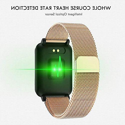 """TEEPAO Watch/Fitness Tracker,1.3"""" Color Touch Screen IP67 Bracelet Tracker with Heart Sports Modes"""