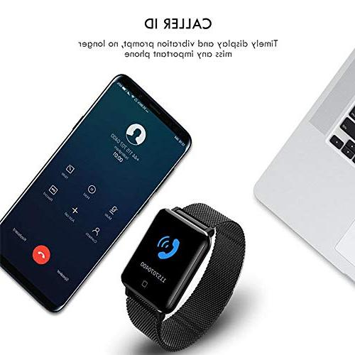 """TEEPAO M19 Smart Tracker,1.3"""" Color Screen Waterproof Bracelet Activity Tracker with Heart Sports Modes for Android/iOS"""