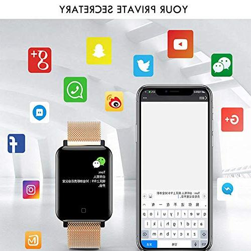 """TEEPAO Tracker,1.3"""" Color Screen IP67 Waterproof Sports Bracelet Activity Wristband with Heart Rate Monitor,8 Sports"""