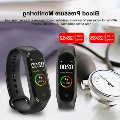 M4 Band Heart Rate Blood Fitness Tracker Health Monitor