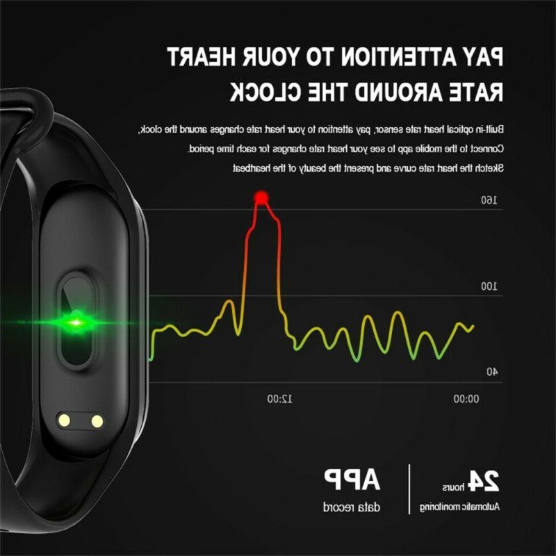M4 Smart Watch Band Heart Rate Monitor Tracker Fitness Wristband