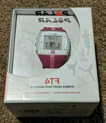 new ft4 heart rate monitor pink open