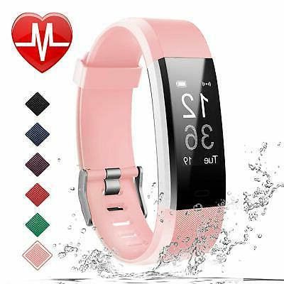 Pedometer Women and Men Adjustable Wristbands