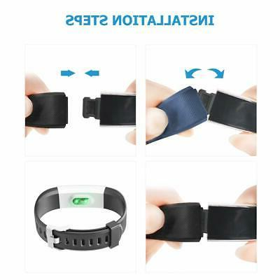 Pedometer for Women and Adjustable Wristbands Tracker