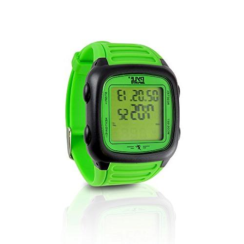 Pyle Smart Rate Digital Sports Wrist HR Tracker w/Chest 3D EL Alarm, Used or and Women PHRM76GN