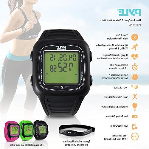 Pyle Heart Rate - Digital Sports Activity 3D Sensor, Alarm, Used Exercise or for and