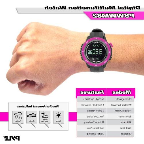Pyle Sports Watch with Altimeter/Barometer/Chronograph/Compass and Forecast